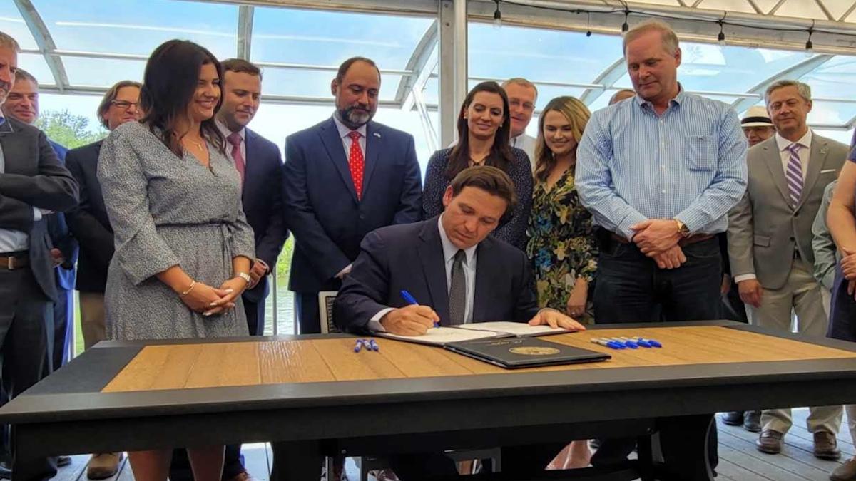 Florida Governor Ron DeSantis Signs Historic $640 Million Flood Legislation