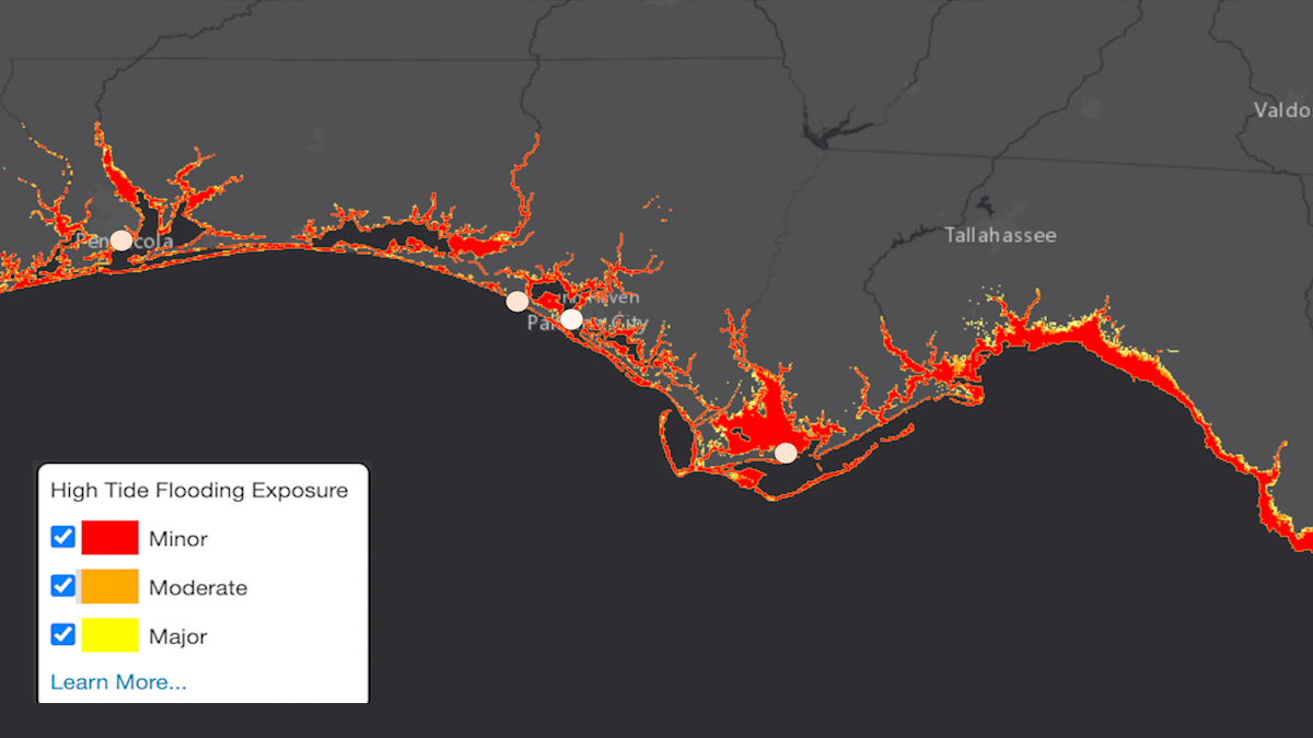 Florida Panhandle Cities Break Records for High-Tide Flood Days